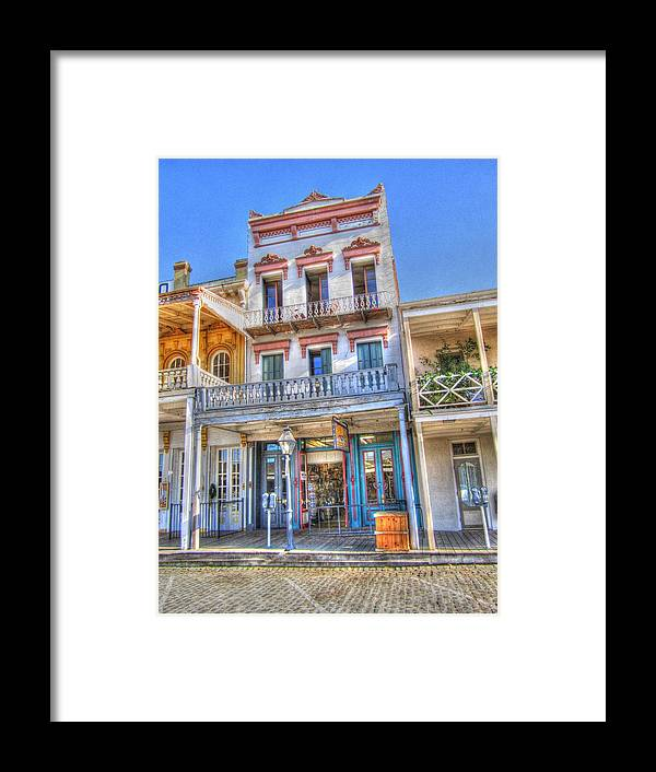 Old Town Sacramento Framed Print featuring the photograph Old West Architecture by Barry Jones