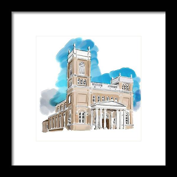 Olg Framed Print featuring the painting Olg Bay Saint Louis by Christopher Acosta