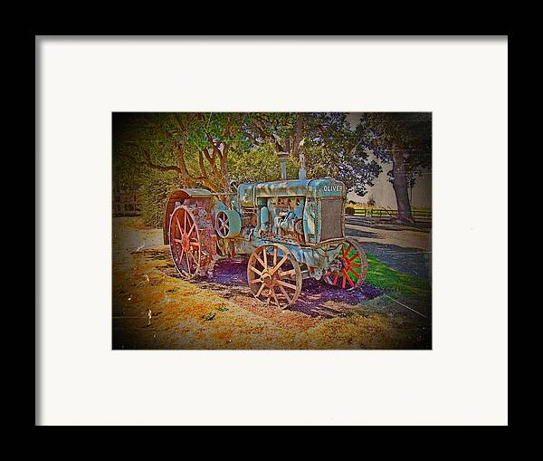 Oliver Tractor Framed Print featuring the photograph Oliver Tractor 2 by Nick Kloepping