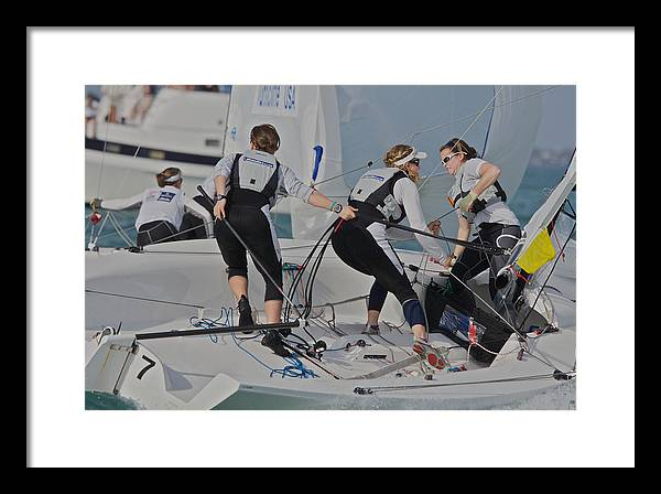 Olympics Framed Print featuring the photograph Olympic Class Racing by Steven Lapkin