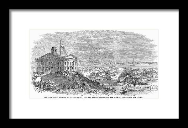 1869 Framed Print featuring the photograph Omaha, Nebraska, 1869 by Granger