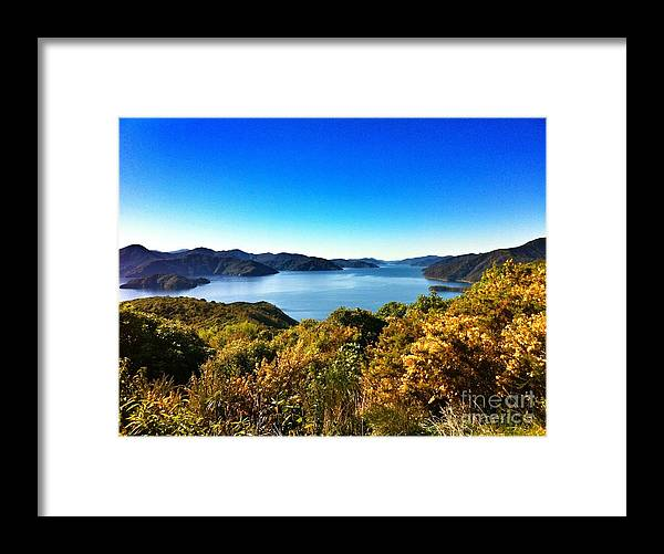 New Zealand Framed Print featuring the photograph On And On by Alisha Robertson