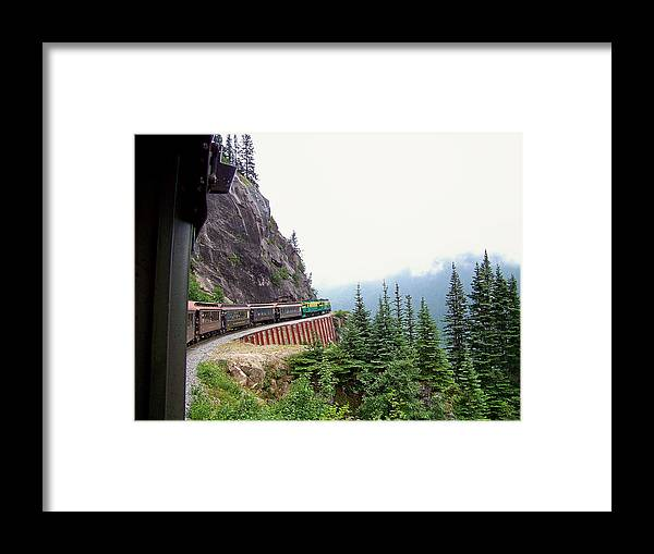 Alaska Framed Print featuring the photograph On The Edge by Judy Wanamaker