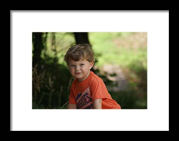 Smile Framed Print featuring the photograph On The Go by Jerry Cahill