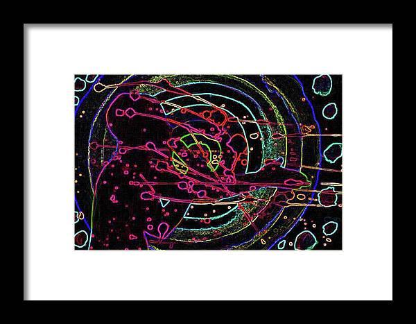 Digital Art Framed Print featuring the digital art On The Money by Karen Elzinga