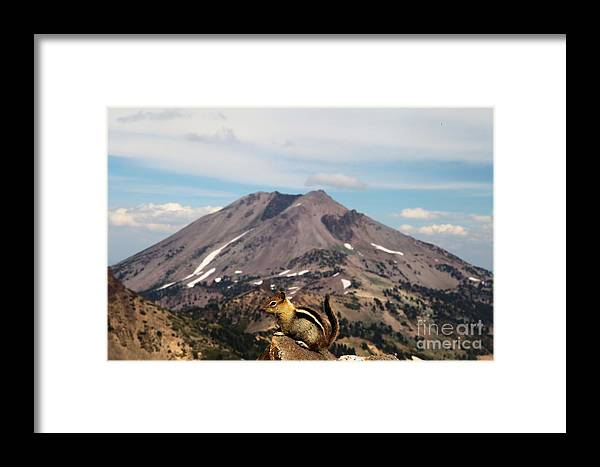 Lassen Volcanic National Park Framed Print featuring the photograph On Top Of The World by Adam Jewell