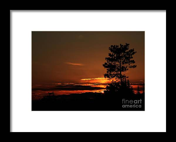 Sunset Framed Print featuring the photograph Onaping Canada Sunset 2 by Marjorie Imbeau