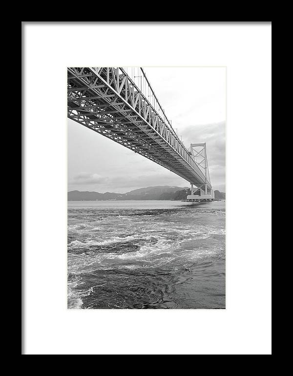 Vertical Framed Print featuring the photograph Onaruto Bridge by Miguel Castaneda