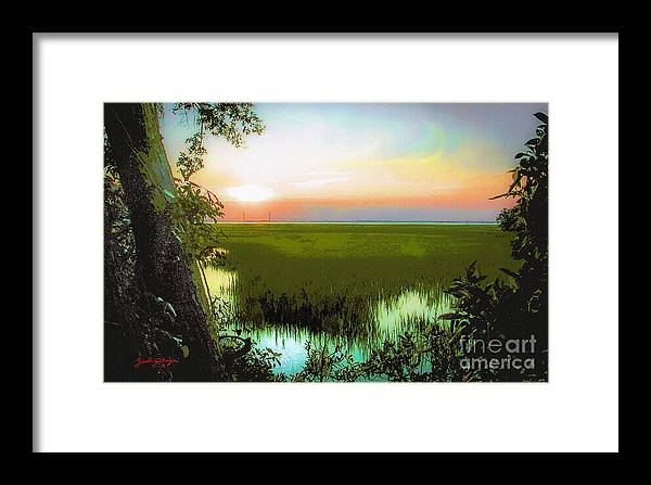 Outdoor Framed Print featuring the painting Once Upon A Time At Jekyll Island by Ginette Callaway