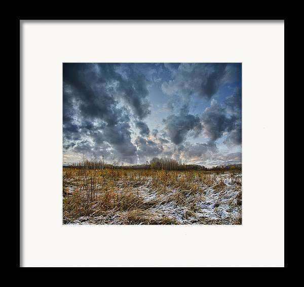 Landscape Framed Print featuring the photograph One Autumn Day by Vladimir Kholostykh
