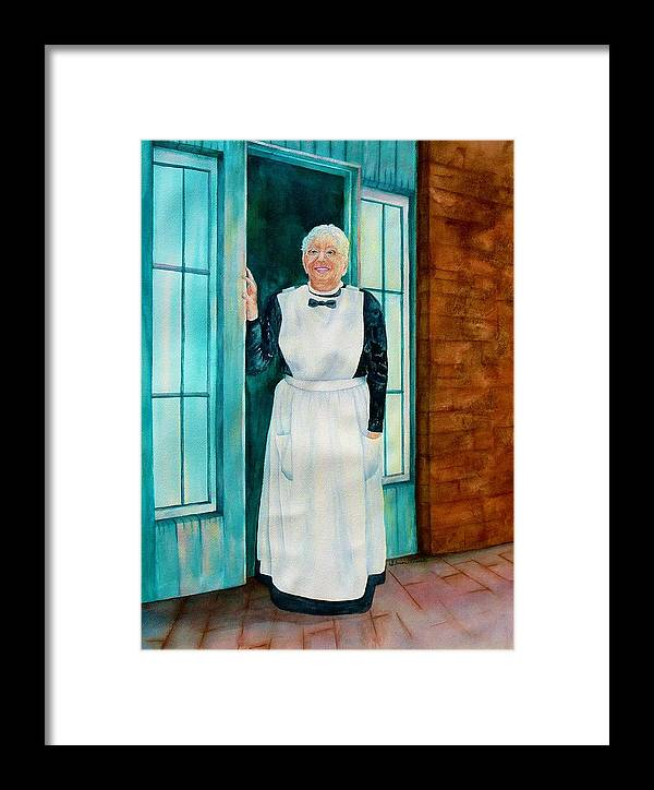 One Of The Last Harvey Girls Framed Print featuring the painting One Of The Last Harvey Girls by Sharon Mick