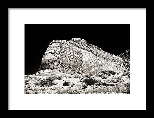 One Rock Framed Print featuring the photograph One Rock by John Rizzuto