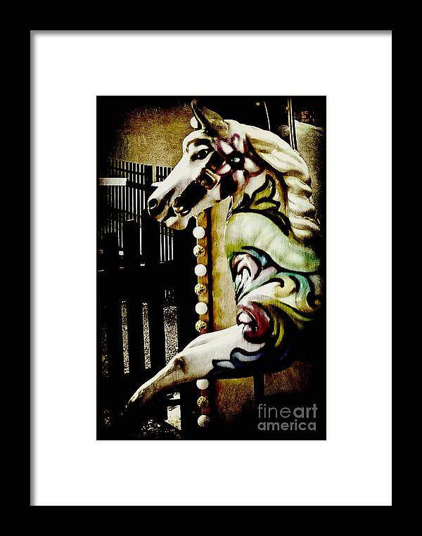 Pony Framed Print featuring the photograph One Trick Pony by Taylor Steffen SCOTT