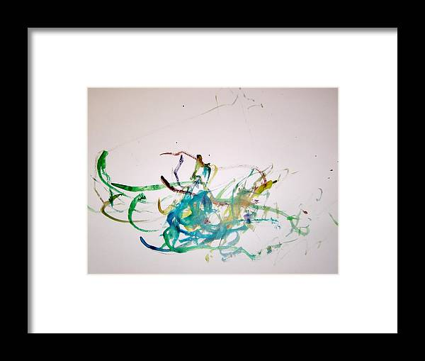 Abstract Framed Print featuring the painting One Young Leaf by Michael Church