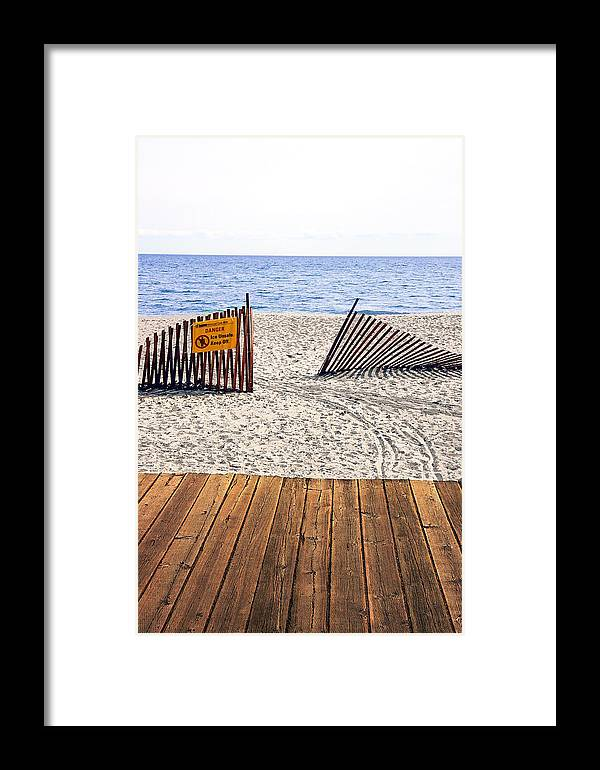 Lake Framed Print featuring the photograph Ontario by Valentino Visentini
