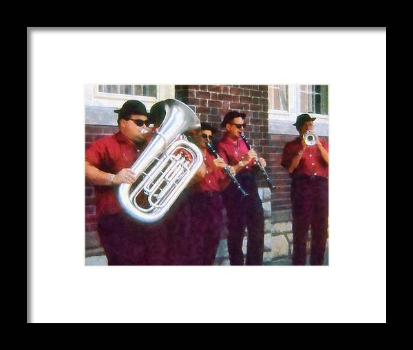 Band Framed Print featuring the photograph Oompah Band by Susan Savad