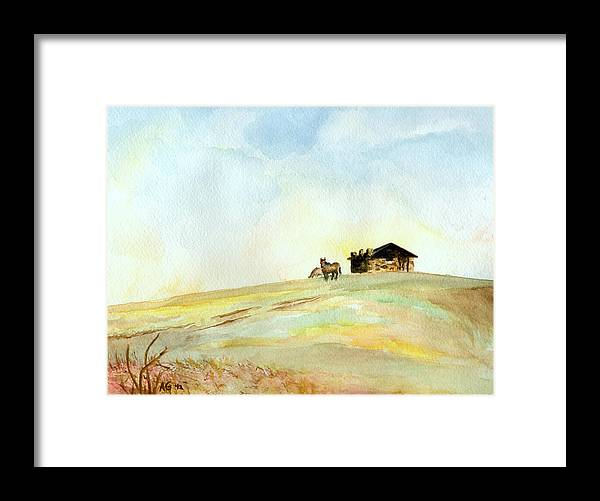 Horse Framed Print featuring the painting Open Space by Andrew Gillette