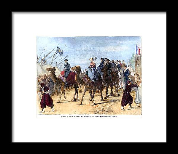 1869 Framed Print featuring the photograph Opening Of The Suez Canal by Granger