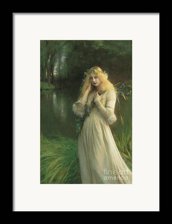 Ophelia Framed Print featuring the painting Ophelia by Pascal Adolphe Jean Dagnan Bouveret
