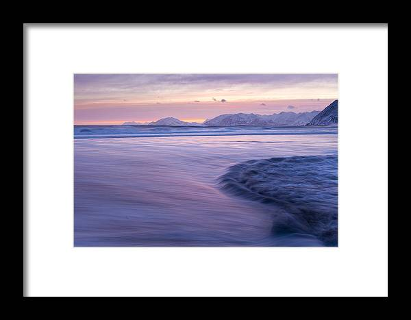 Alaska Framed Print featuring the photograph Opposing Waves At Sunset by Tim Grams