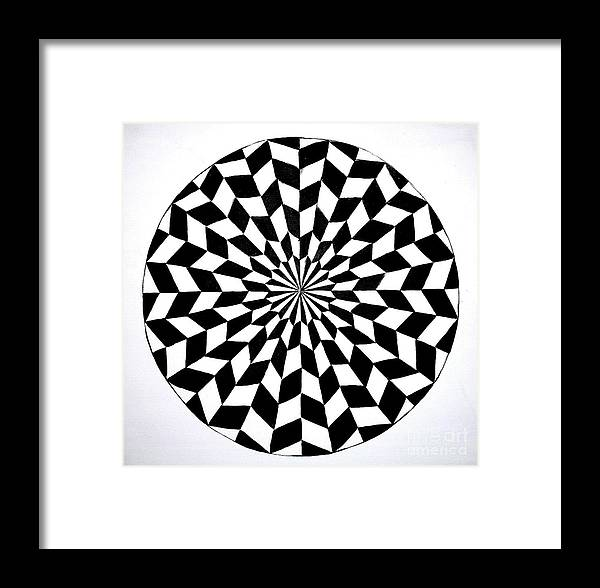 Optical Illusion Framed Print featuring the painting Opt Art 5 by Christina A Pacillo