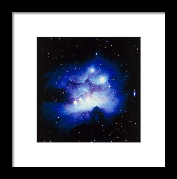 Ngc 1977 Framed Print featuring the photograph Optical Image Of The Nebula Ngc 1977 In Orion by Celestial Image Co.