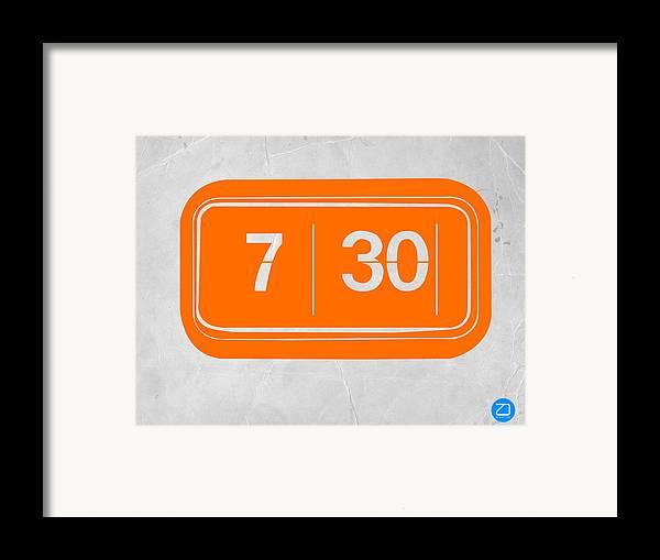 Framed Print featuring the photograph Orange Alarm by Naxart Studio