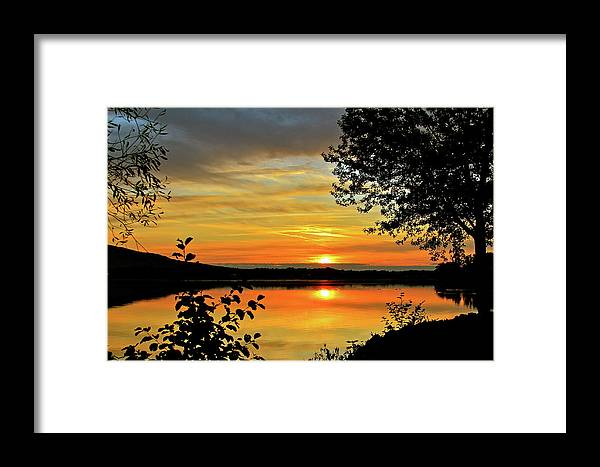 Nature Framed Print featuring the photograph Orange Glow by Mike Stouffer
