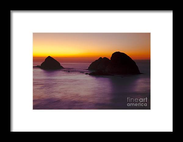 Space Framed Print featuring the photograph Orange Serenity by Bruce Smalley