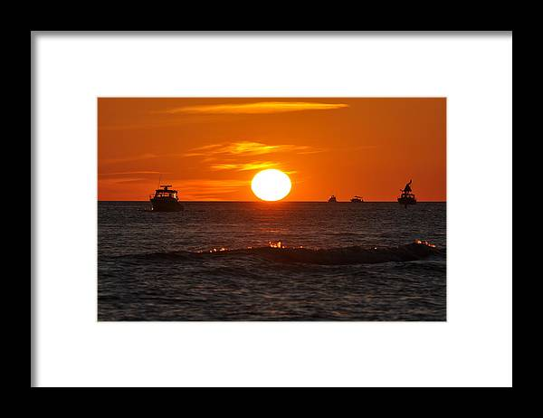 Sunset Framed Print featuring the photograph Orange Sunset I by Christine Stonebridge
