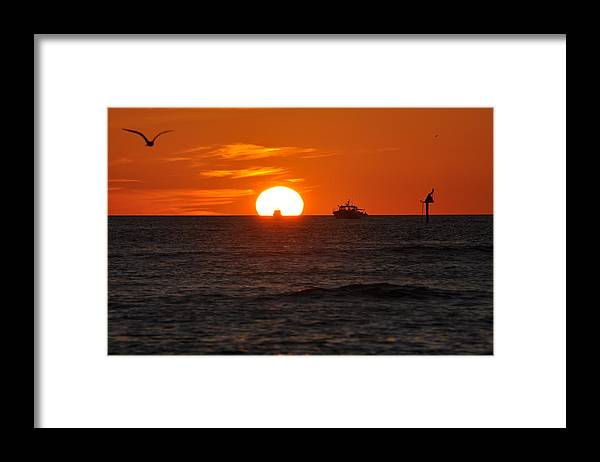 Sunset Framed Print featuring the photograph Orange Sunset II by Christine Stonebridge
