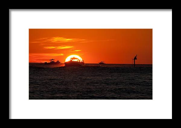 Sunset Framed Print featuring the photograph Orange Sunset III by Christine Stonebridge