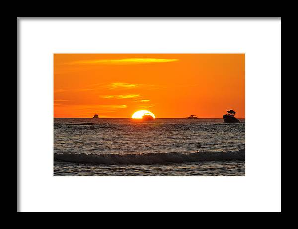 Sunset Framed Print featuring the photograph Orange Sunset V by Christine Stonebridge