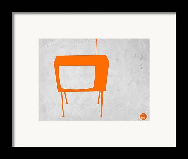 Kids Art Framed Print featuring the drawing Orange Tv by Naxart Studio