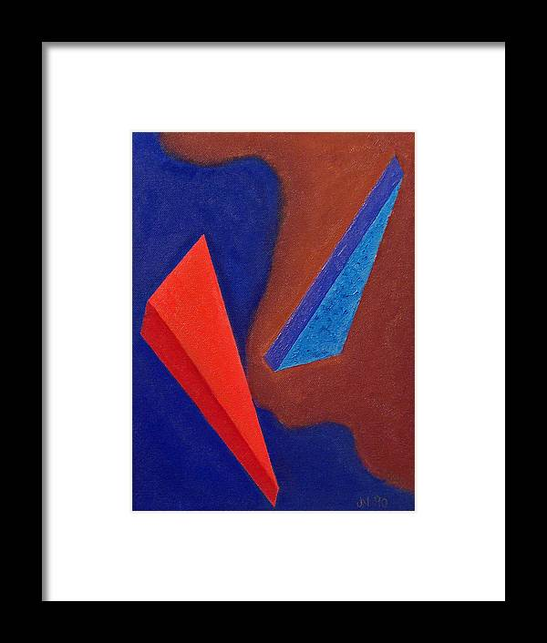 Abstract Expressionism Framed Print featuring the painting Orbit by John Neumann