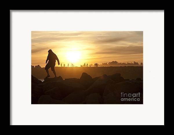 Silhouette Framed Print featuring the photograph Ordinary Day Extraordinary Life by Artist and Photographer Laura Wrede