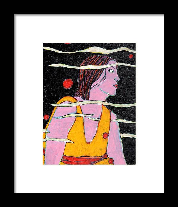 Abstraction Framed Print featuring the painting Ordinary Space by Kimberly Gerry-Tucker