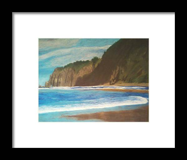 Oregon Framed Print featuring the painting Oregon Beach by Samuel McMullen