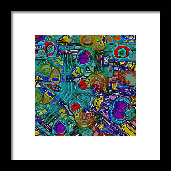 Chaos Framed Print featuring the digital art Organized Chaos by Alec Drake