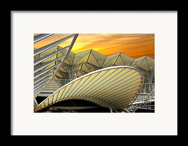 Abstract Framed Print featuring the photograph Oriente Station by Carlos Caetano