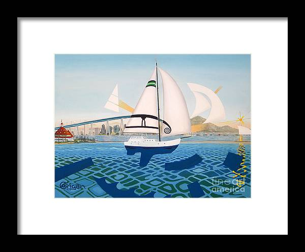 Coronado Framed Print featuring the painting Coronado Sailin' - Memoryscape by David Corrigan