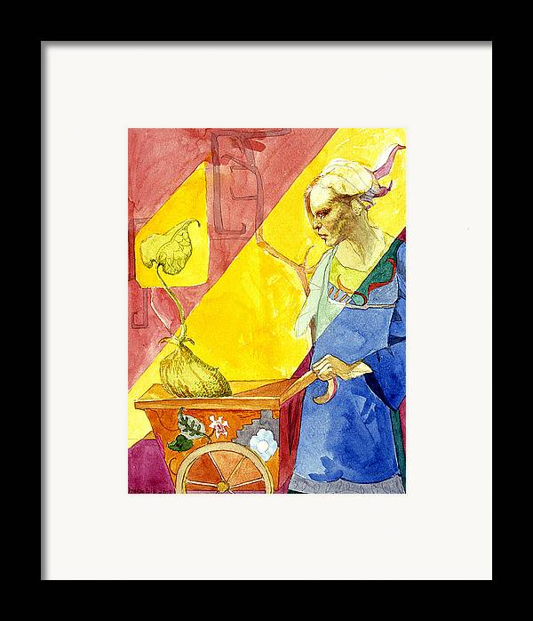 Women Framed Print featuring the painting Origins 2 by Ellen Dreibelbis