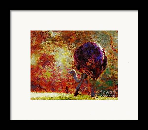 African Framed Print featuring the photograph Ostrich II by Arne Hansen