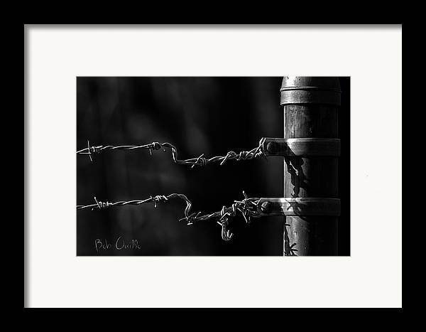 Fence Framed Print featuring the photograph Other Side Of The Fence by Bob Orsillo