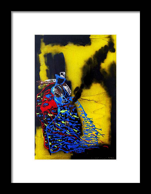 Jesus Framed Print featuring the painting Our Lady Star Of The Sea by Gloria Ssali