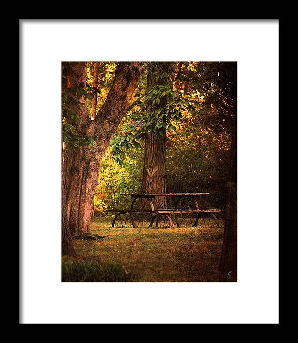 Autumn Framed Print featuring the photograph Our Special Place by Jai Johnson