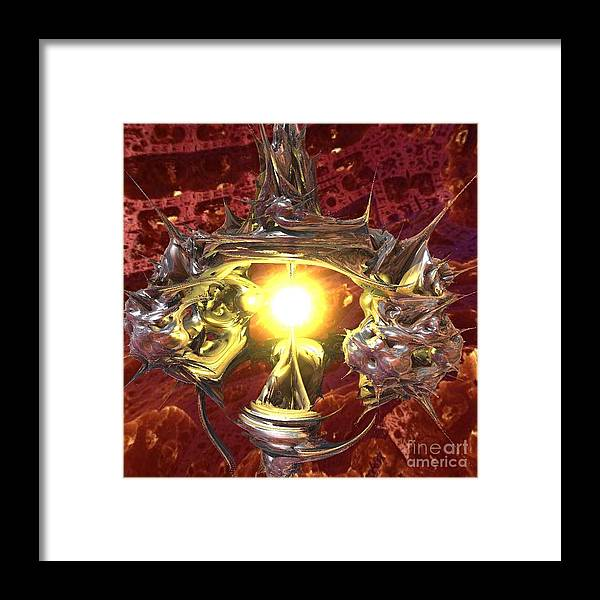 Planet Framed Print featuring the digital art Out of Darkness by Vicki Lynn Sodora