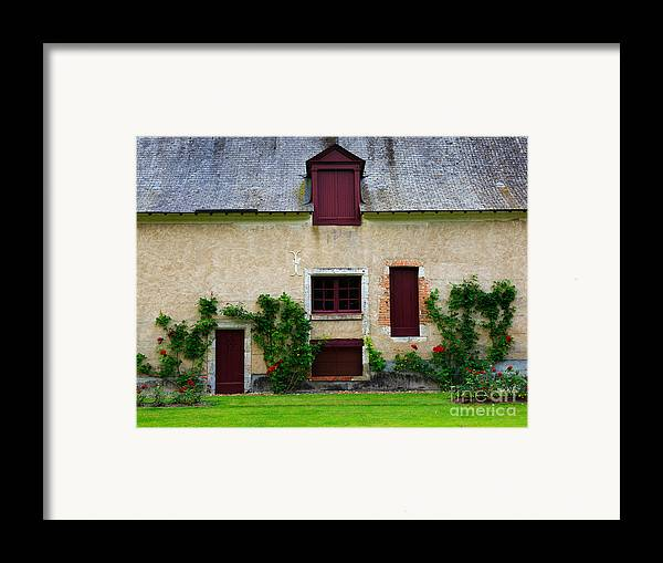 Outbuildings Framed Print featuring the photograph Outbuildings Of Chateau Cheverny by Louise Heusinkveld