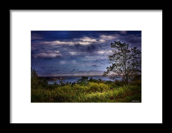 Blue Sky Framed Print featuring the photograph Outdoors by Mikki Cucuzzo