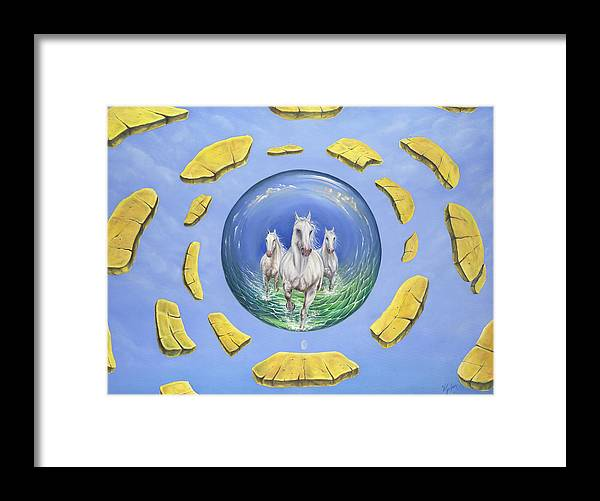 Horses Framed Print featuring the painting Outer Limits by Teresa Gostanza
